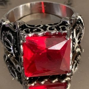 Size 13 red crystal spikes brand stainless steel r